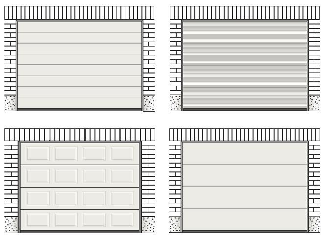 Panele bram garażowych